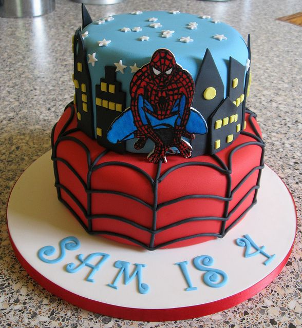 Spiderman cake by Rachel Manning Cakes, via Flickr