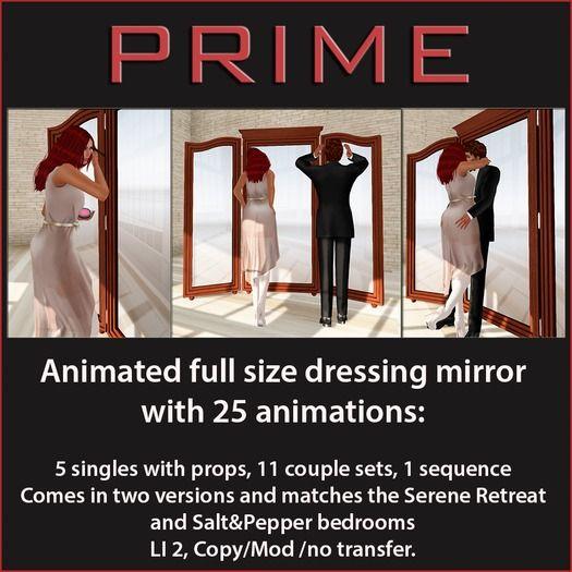 Salt&Pepper Cuddle mirror by PRIME
