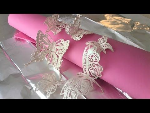 How to Make 3D Butterflies with Cake Lace - YouTube
