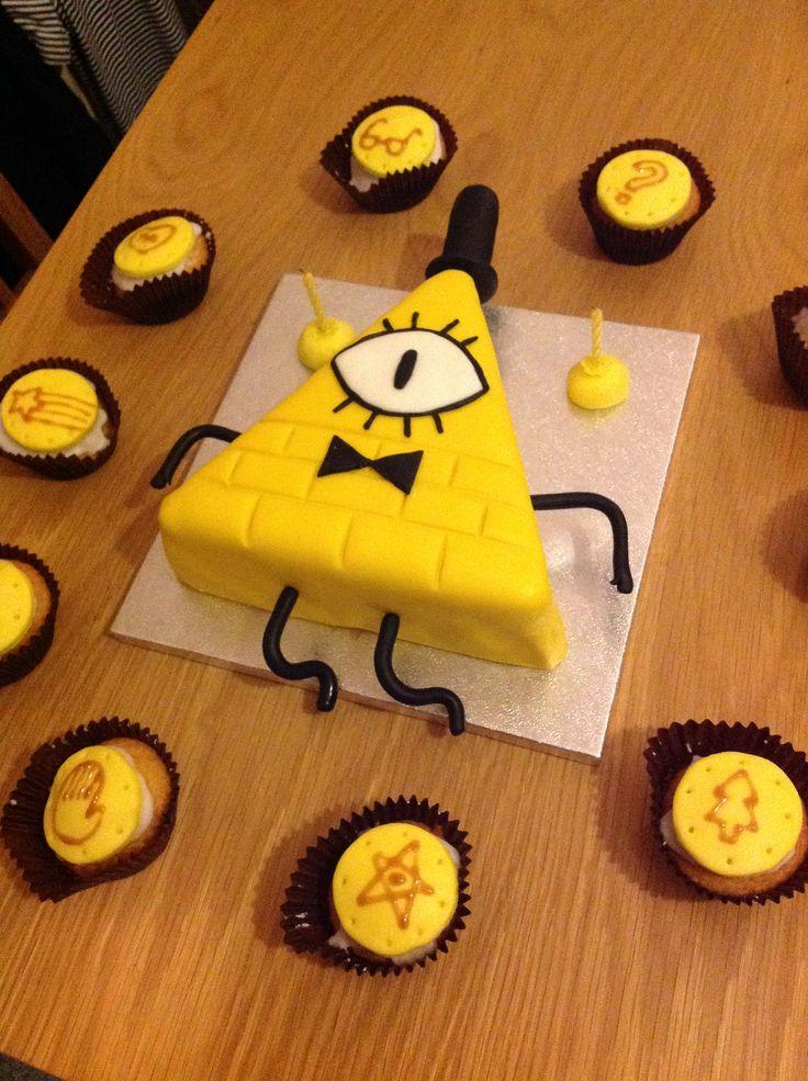 Gravity Falls Bill Cipher cake!