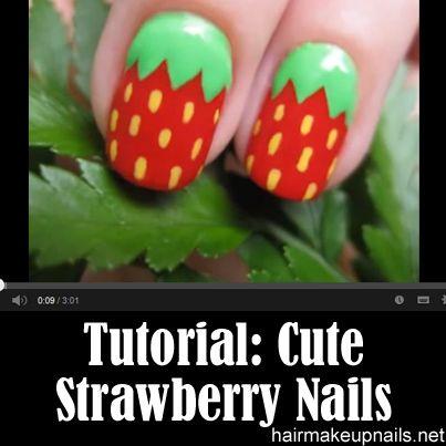 Best 25 strawberry nail art ideas on pinterest nail designs cute strawberry nail art prinsesfo Gallery