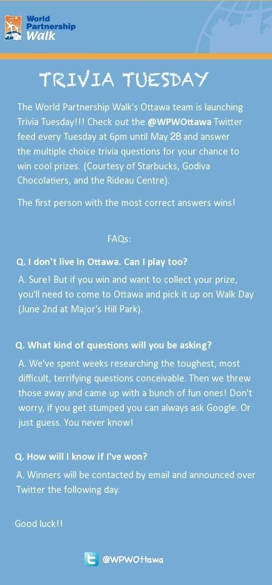 Trivia Tuesday!!!
