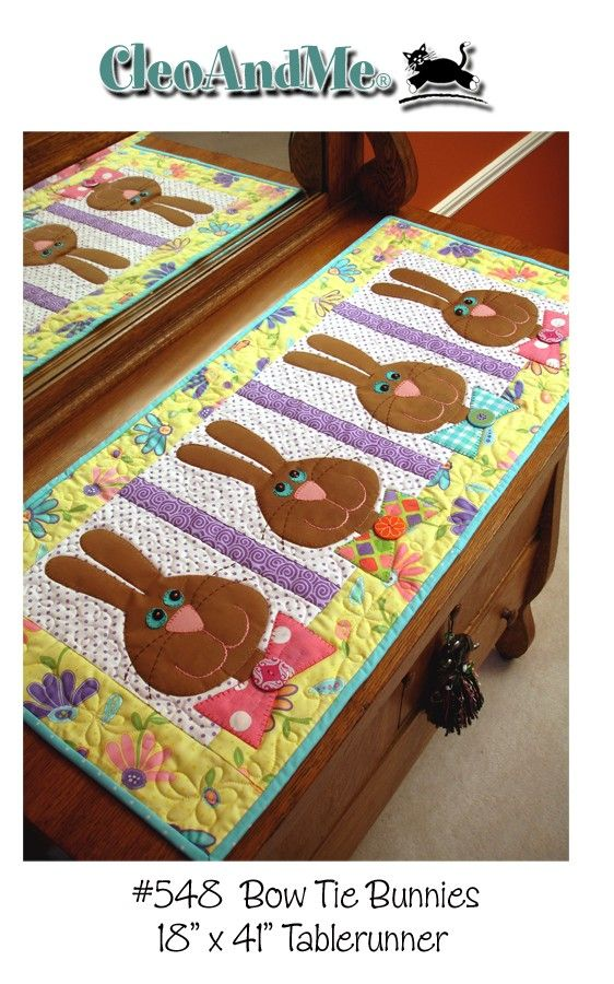 Bow Tie Bunnies- table runner pattern - $8.50