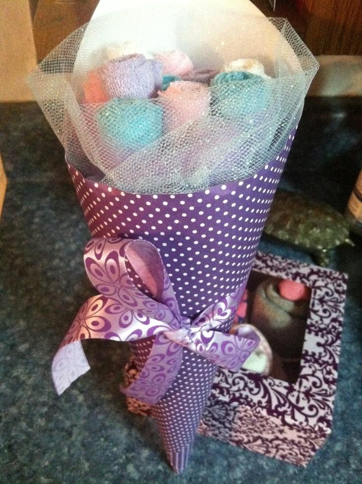 My wash cloth bouquet!