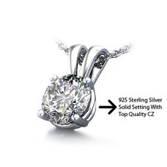 Complete Your Look with Classic and Stylish Zirconia Jewelry  Chic Jewelry, the Leading Online Store, Offers Amazing Cubic Zirconia Loose Stones: Carat Sterling, Solitaire Pendants, Quality Cubic, Amazing 1 50, Silver Solitaire, Sterling Silver, 1 50 Carat, Cubic Zirconia, Tops Quality
