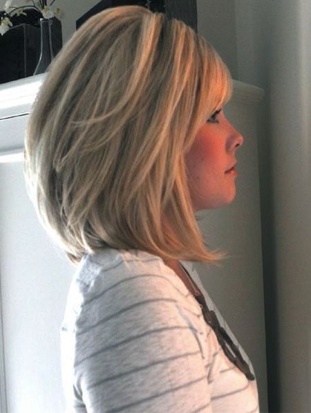 stacked haircut medium length mid length stacked bob for 50 or 14 medium 2884 | 955b19ccce1fbbea38c3c146ab2d59fd