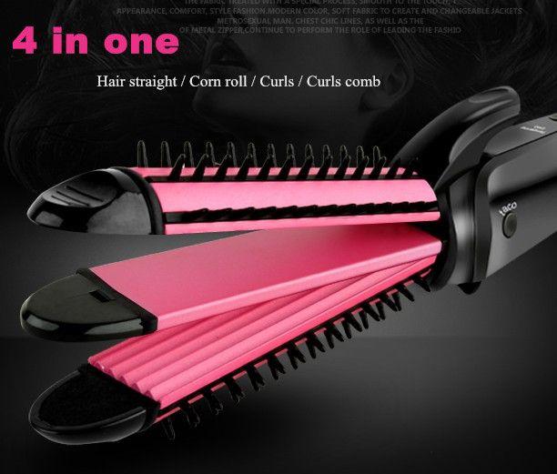 4 in one hair straightener Electric Magic Ceramichair roller curler artifact  Curling Hair corn straight Curling Hair comb