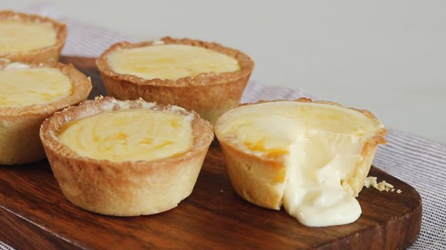 Indulge in a batch of gooey, decadent, sweet and salty lava cheese tarts!