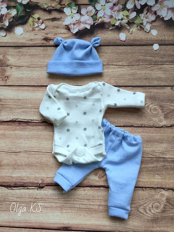"HANDMADE CLOTHES FOR 9-10"" REBORN,SCULPT,OOAK BABY DOLL"
