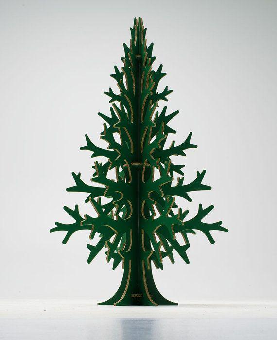132 cm / 4' 33'' de verde laser-corte cartón árbol