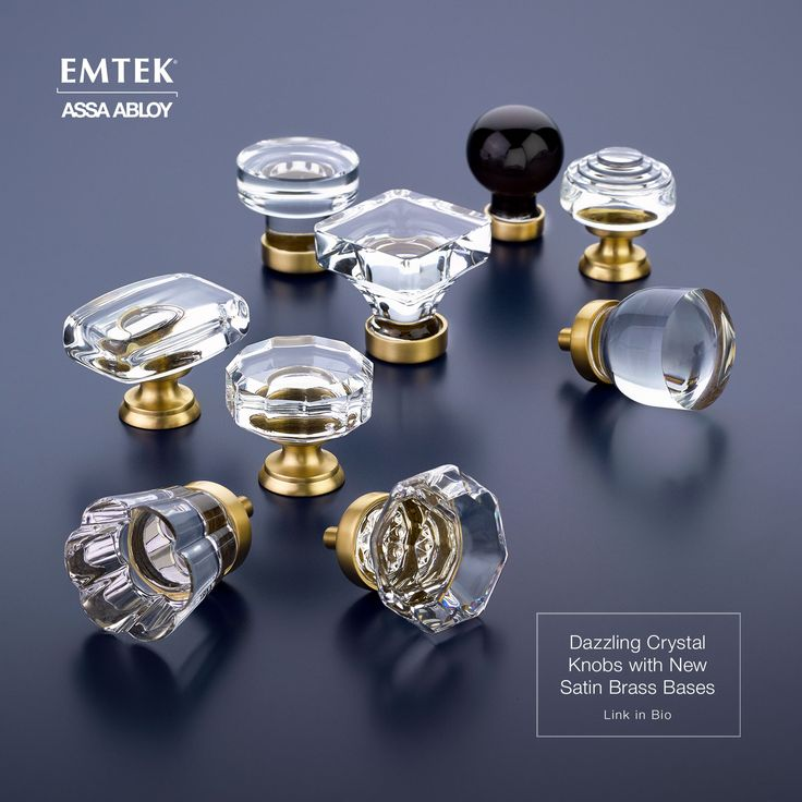 Emteku0027s Crystal Cabinet Knobs With Satin Brass Finish Details. These Would  Look Stunning On A