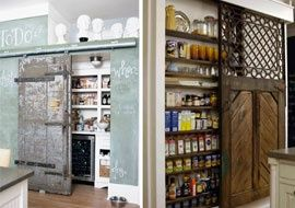 want a barn door in the house, nowhere to put it: pantry is great idea!!