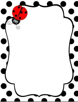 Ladybug Backgrounds, Borders, and Digital Paper!