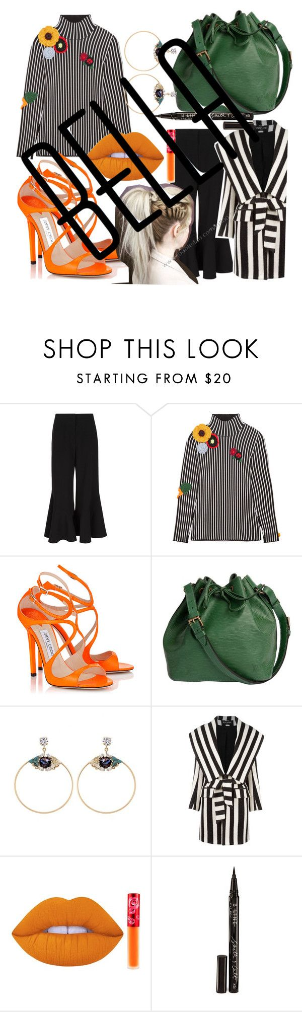"""""""#SIDETOSIDE#ARIANAGRANDE#LOVEHER"""" by helloitsstacy ❤ liked on Polyvore featuring Peter Pilotto, Christopher Kane, Louis Vuitton, Anton Heunis, Balmain, Lime Crime and Smith & Cult"""