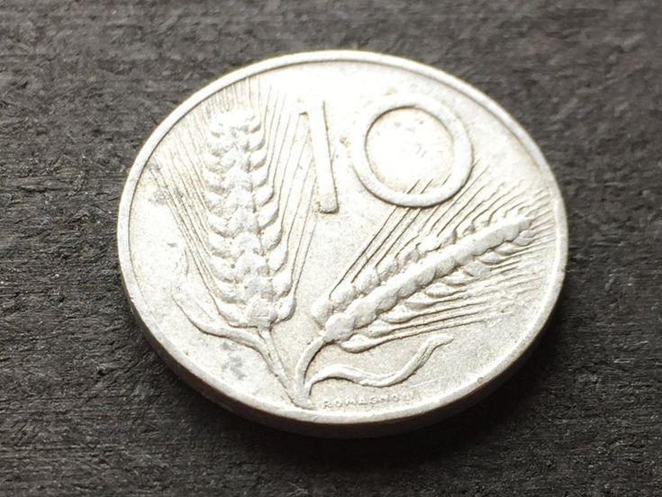 Moneta Dell Annata Italia 1954 Alluminio 10 Lire Due Rametti Di