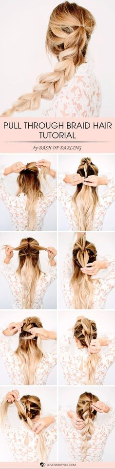 With this pull through braid hair tutorial you will add something new to your look. Moreover, you can make it sleek or big. Easy braid hairstyles