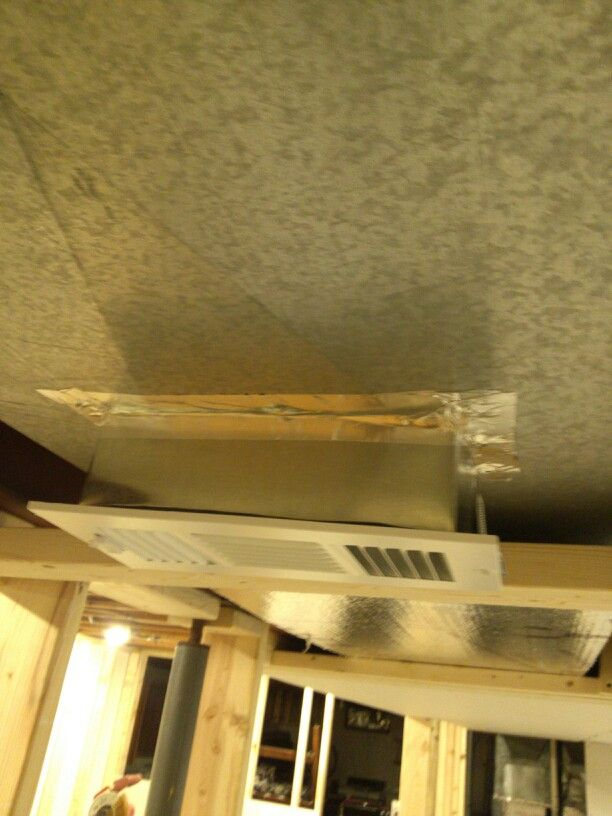 Made extenders to bring vents to drywall level