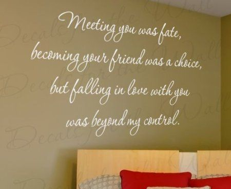 Marriage Wall Quote Decals... Do something in a metallic
