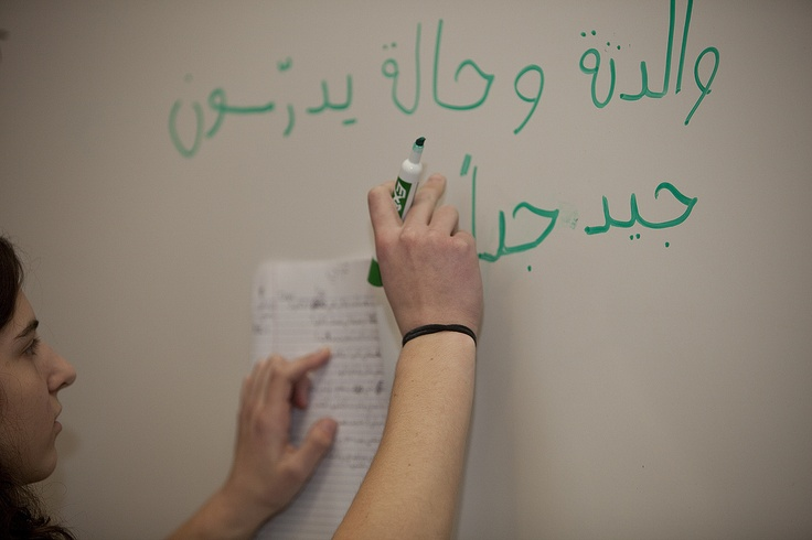 Arabic language class  I swear this was me too!