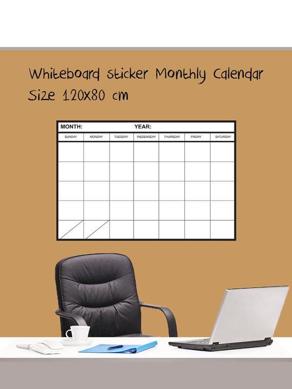 WhiteBoard sticker Monthly Planner calendar size by MegaBoards, $49.99
