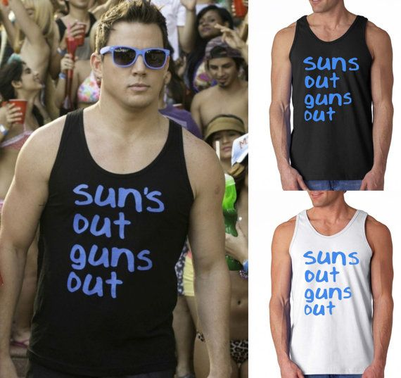 0b8529bd9bebc3 22 Jump Street Movie Sun s Out Guns Out Party Spring by TeesNplus ...