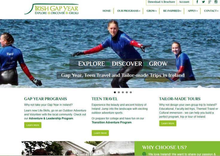 https://www.irishgapyear.com/ website built by Format Web Designers Sligo.