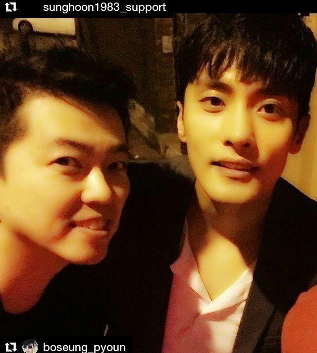 37 個讚,1 則留言 - Instagram 上的 Debbie Moh(@debbie_moh):「 #Repost @sunghoon1983_support ・・・ #SUNGHOON with cute actor from new movie . . #Repost… 」
