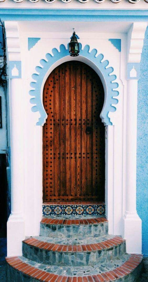 Door in Chefchaouen - Morocco & 13 best oriental door images on Pinterest | Arabian party Arabic ...