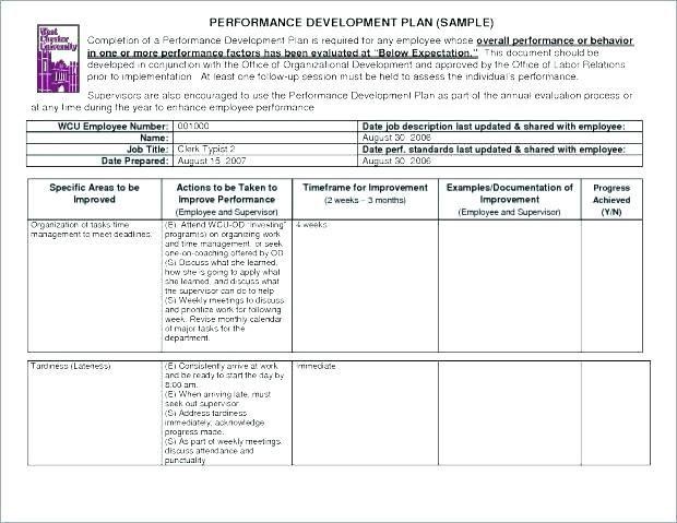 27 Employee Improvement Plan Templates Performance Improvement