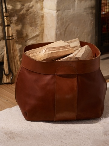 Whitfield Leather Log Basket - Ralph Lauren Home Decorative Accessories - RalphLauren.com mood board
