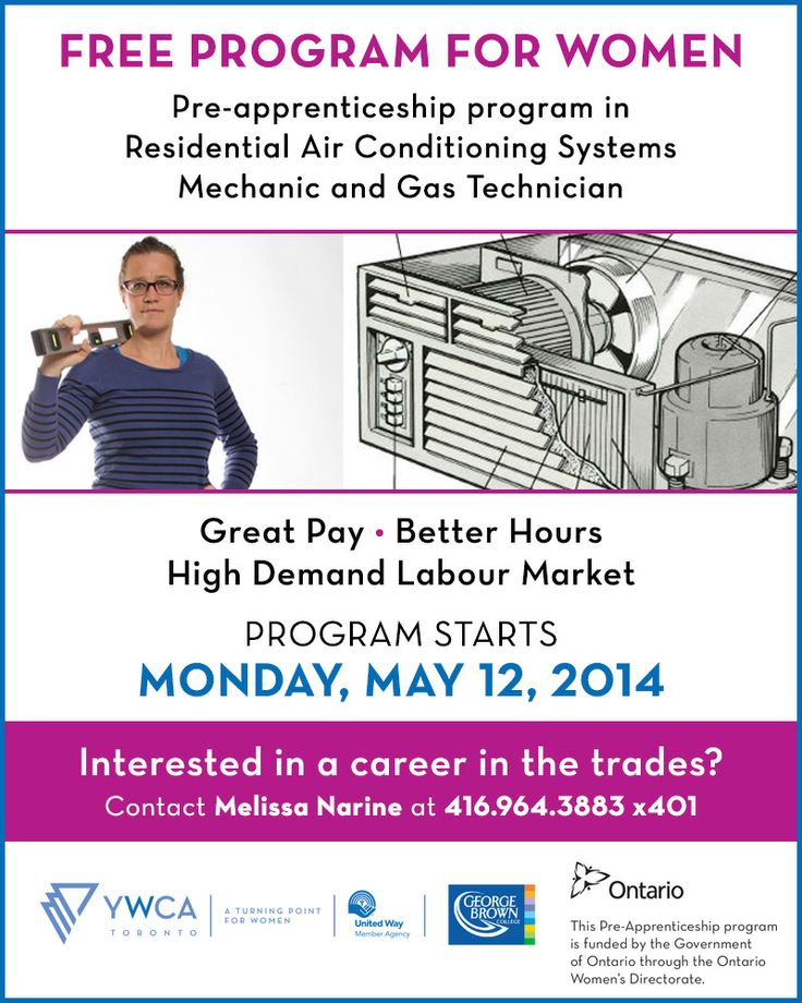 Holla! Our free pre-apprenticeship program (residential A/C mechanic & gas technician) starts May 12. Sign up!