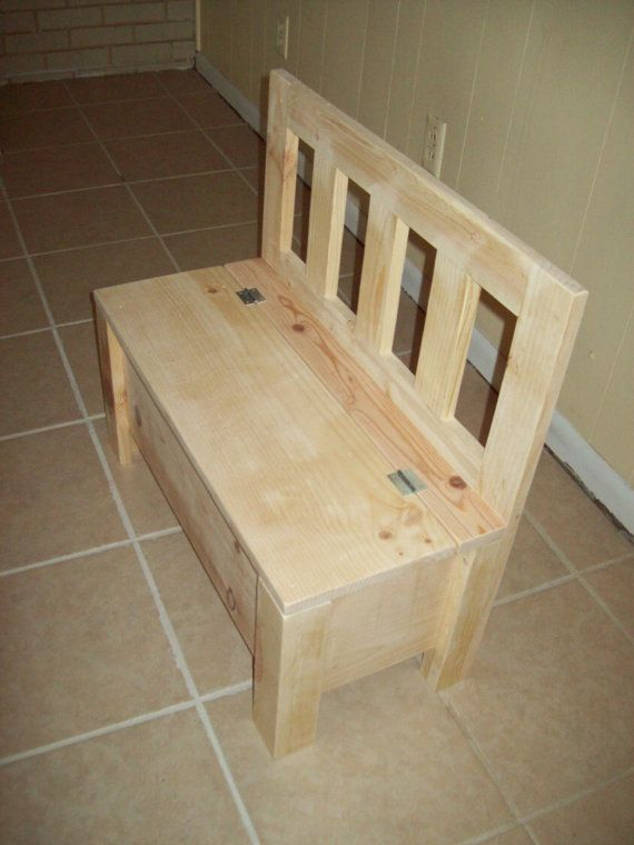 Kids bench Storage chair seat. that can go around the kitchen table. Can store ...