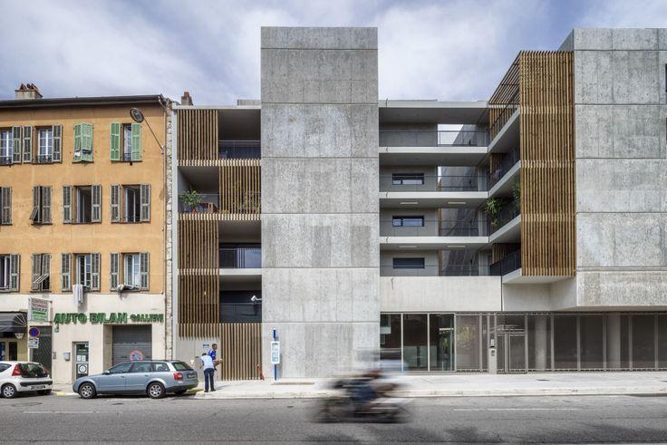 Le projet forme un véritable îlot «figure de proue», un grand corps urbain sculpté d'interstices qui engagent le dialogue avec la ville, avec un cœur végétalisé ceint d'une volumétrie de hauteur variable à la recherche des meilleures orientations solaires
