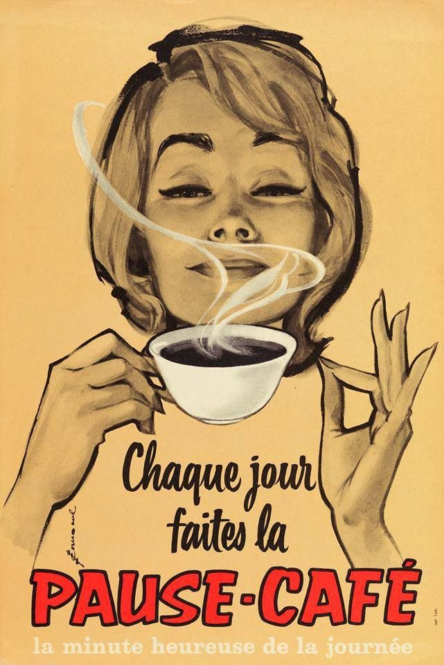 French coffee ad.                                                                                                                                                      Mais