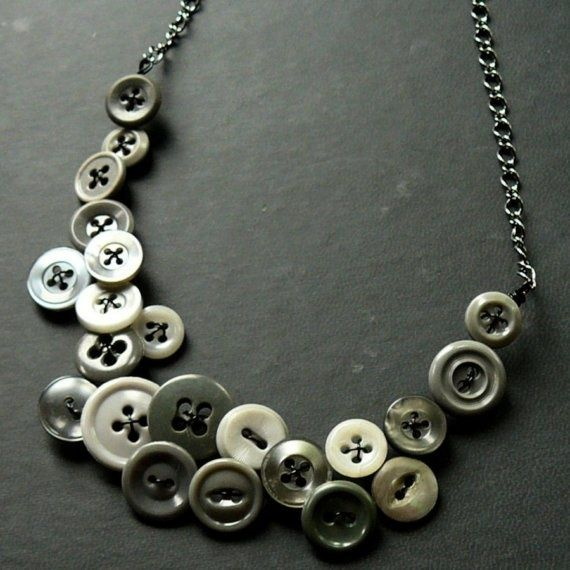 Best Jewelry Button Necklace Images On Pinterest Button - Bright diy layered button necklace
