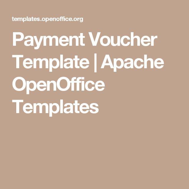 Payment Voucher Template | Apache OpenOffice Templates