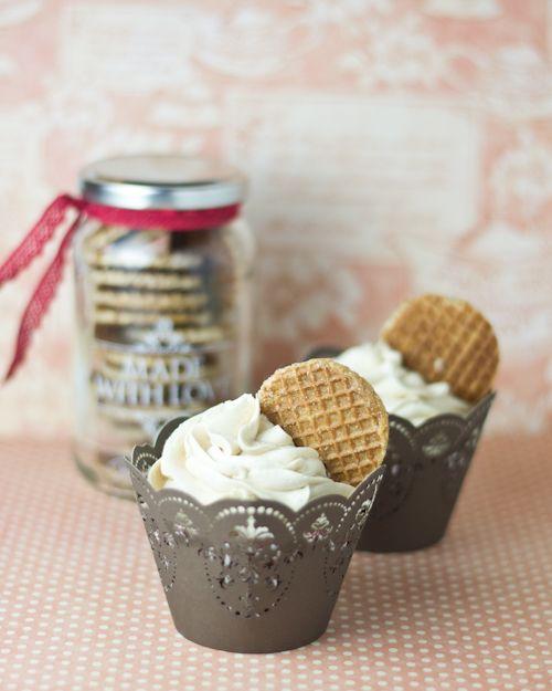 Objetivo: Cupcake Perfecto.: Stroopwafels Cupcakes