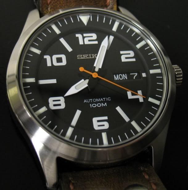 Custom Seiko Pilot watch
