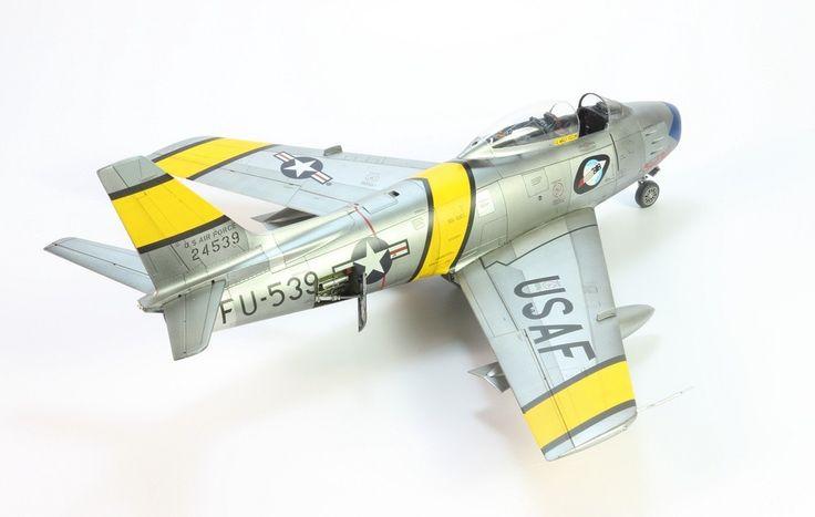 Sweet Rose FU-539 Sabre Korean War Cc: Wally Yocum Fabulous Rocketeers K-14 Kimpo Model 1:48 blue nose 1954