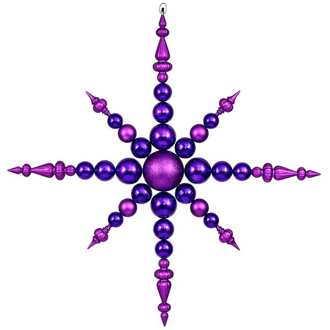 "43"" Purple Commercial Sized Shatterproof Radical Snowflake Christmas Ornament"