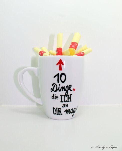 Geschenk Mann individuelles Tassen Geschenk Frau  von Lovely-Cups via dawanda.com