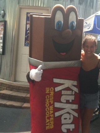 Nina Bonis, Owner: Former ad exec on Hershey's account, enjoying a client funded trip to Hershey Park:) With this marketing background business will be booming!