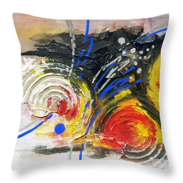 Throw Pillow featuring the painting Life Of Circle - Iv by Rupam Shah