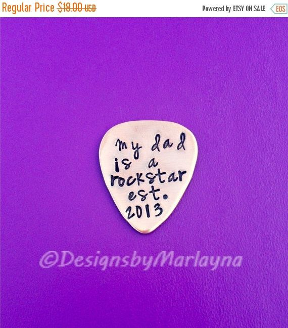 Hand Stamped Guitar Pick, Personalized Pick, Musician Gift,Music Lover, engraved gift, Anniversary Gifts For Men, Father's Day, Grandpa, Dad