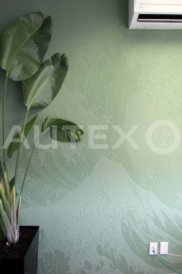 Autex Interior Acoustics - Etch™ - Custom 'The Great Wave of Kanagawa' - Colour: Jade
