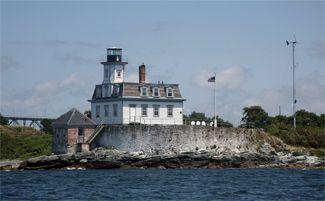 Rose Island Lighthouse  Narragansett Bay, Rhode Island