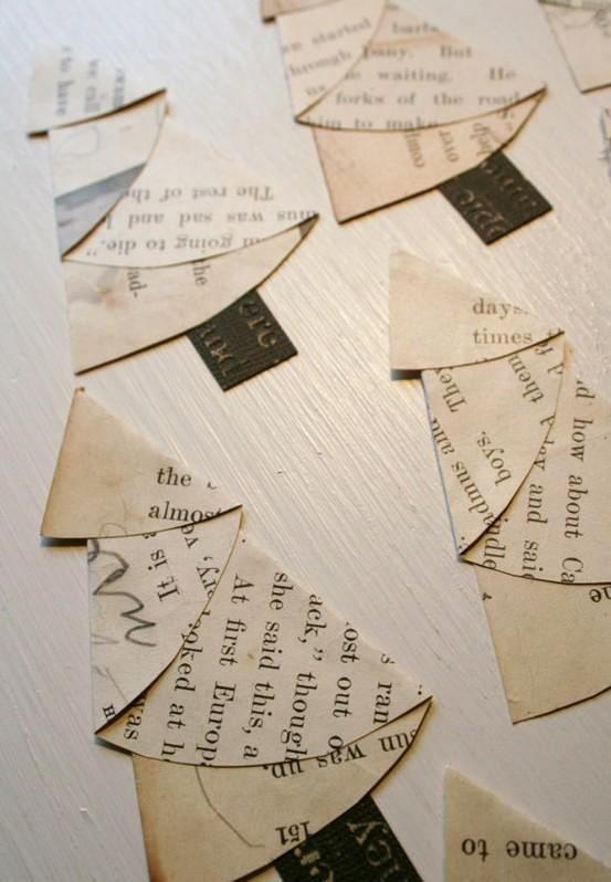 Sapins de Noël en papier plié