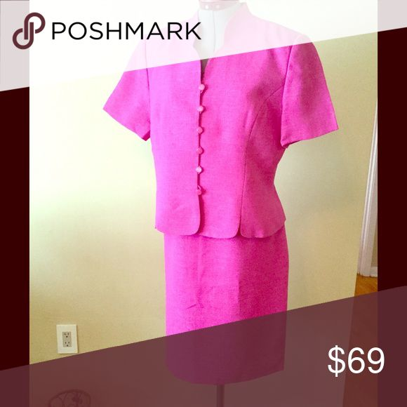 """Le Suit Textured Petite Two Piece Skirt Suite 100% polyester 
