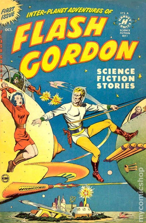 FLASH GORDON 1, GOLDEN AGE HARVEY COMICS