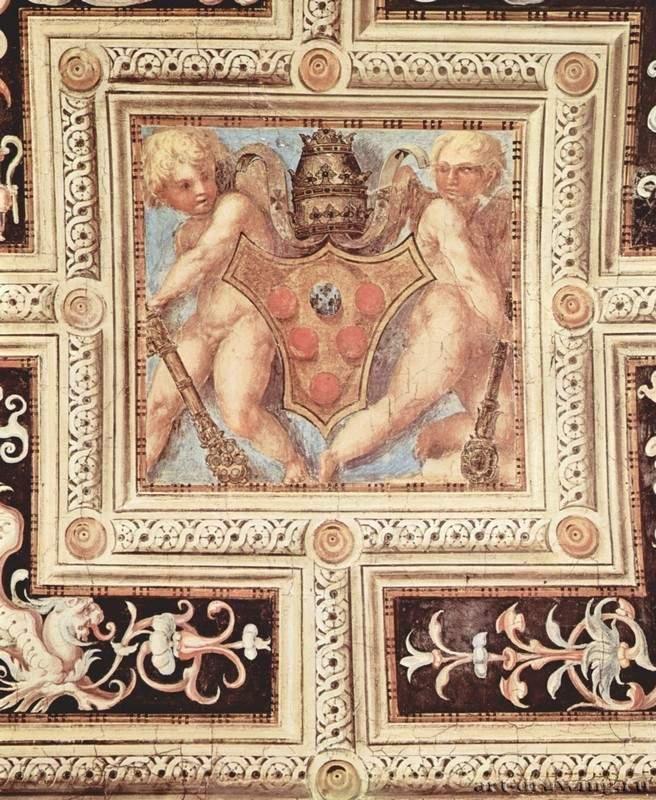 Понтормо. Путти с папским гербом. 1515. Флоренция. Церковь Санта Мария Новелла